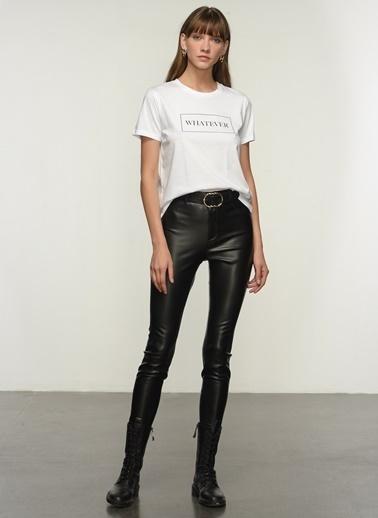 NGSTYLE Kadın Baskılı  Tişört NGKSS21TS0023 Beyaz